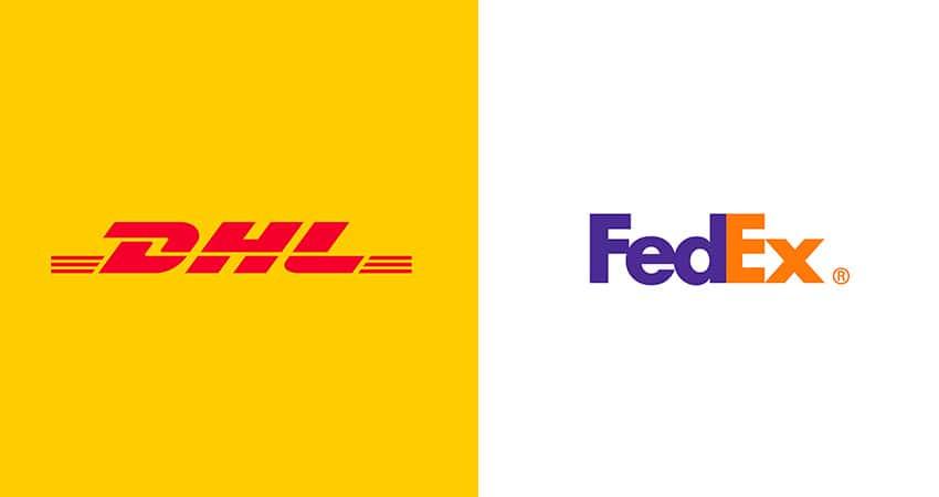 Envíos DHL y FedEx