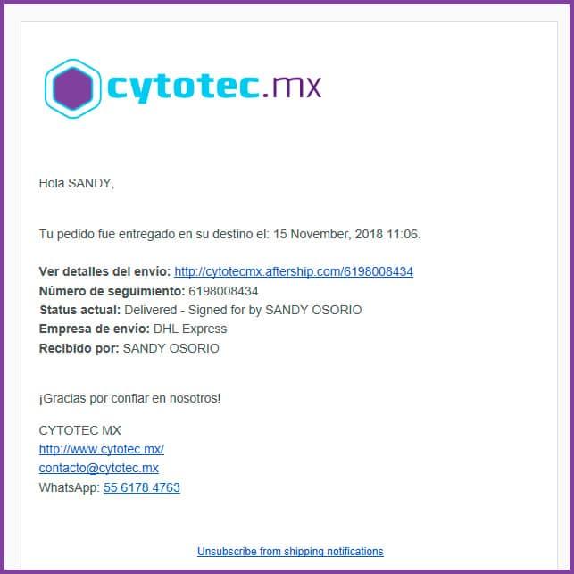 Envíos de Cytotec en México - www.cytotec.mx