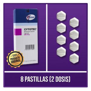 8 pastillas 2 dosis Cytotec